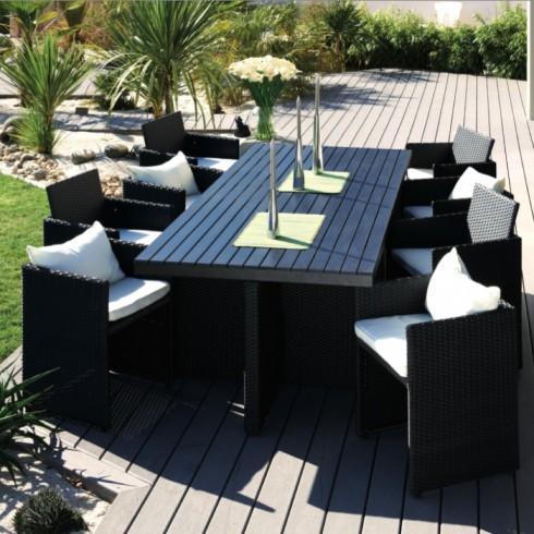 Salon de jardin comparez les prix pour professionnels - Table de jardin noire asnieres sur seine ...