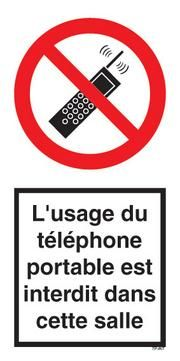 PANNEAU TELEPHONE PORTABLE INTERDIT