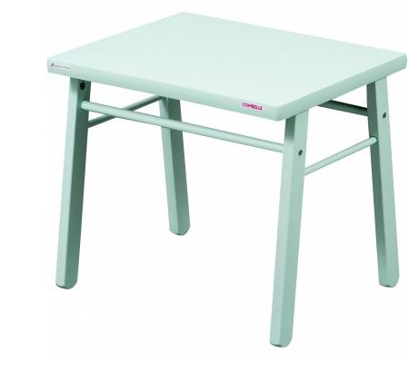 table d 39 enfant en bois massif laque vert d 39 eau. Black Bedroom Furniture Sets. Home Design Ideas