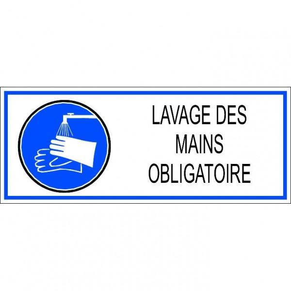 AUTOCOLLANT LAVAGE DES MAINS OBLIGATOIRE