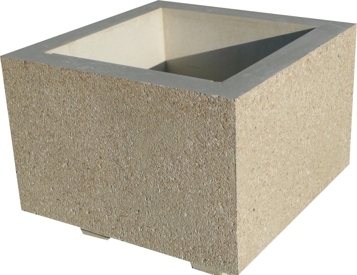 jardiniere en beton 70x70x45. Black Bedroom Furniture Sets. Home Design Ideas