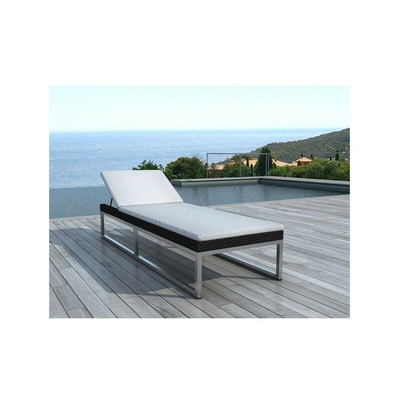 Chaise longue noire tous les fournisseurs de chaise - Bain de soleil tresse ...