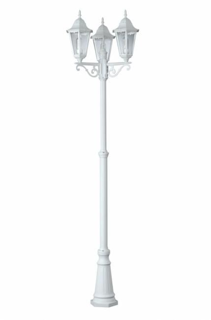 lampadaire 3 t tes 100w blanc zagreb comparer les prix de. Black Bedroom Furniture Sets. Home Design Ideas