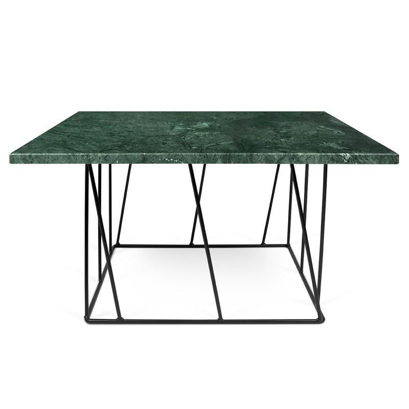 Temahome Table Basse Helix 75cm Marbre Vert Metal Noir