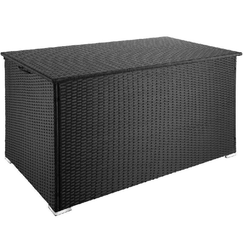 Coffre de jardin mobilier 145 cm noir 2208155