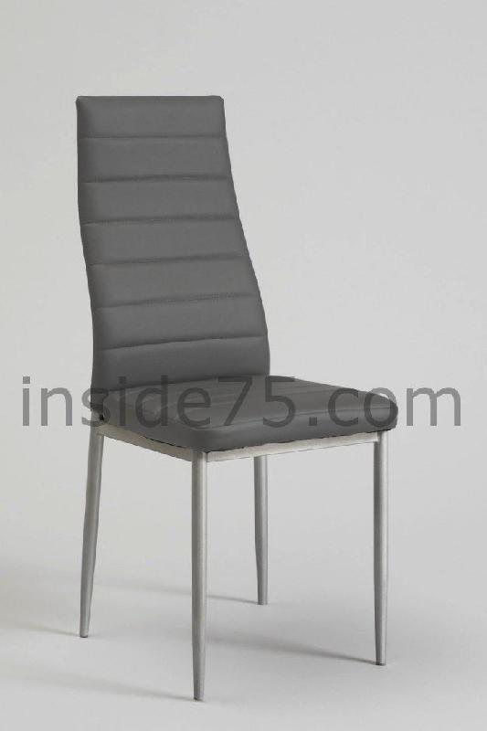 lot de 4 chaises modern de salon repas capitonnee gris design. Black Bedroom Furniture Sets. Home Design Ideas