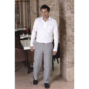 pantalon de cuisine homme materiau 100 coton noir blanc a carreaux taille eu 52 fr 46 hiza. Black Bedroom Furniture Sets. Home Design Ideas