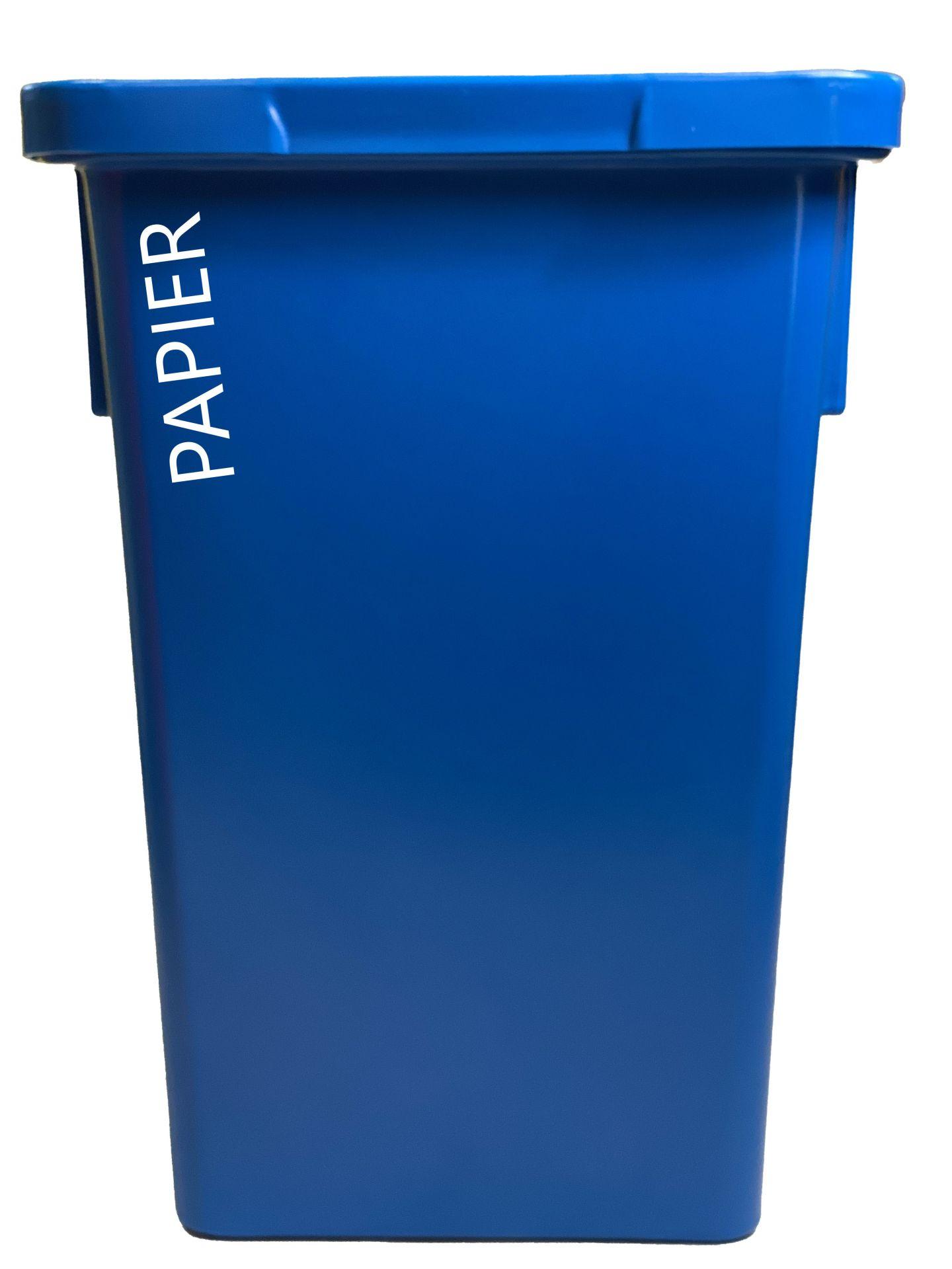 Bac de collecte des dechets trizen papier 120l