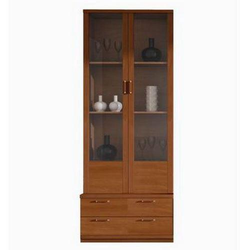 meuble vitrine 2 portes caisson bas 2 tiroirs etageres vitrine en verre comparer les prix de. Black Bedroom Furniture Sets. Home Design Ideas