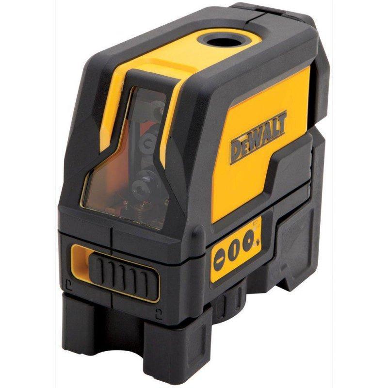 Fil a plomb laser dewalt 5 points avec coffret malette de for Fil a plomb laser stanley
