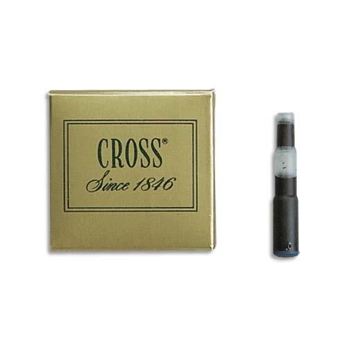 Cross cartouche pour stylo à plume encre noire en étui de 6