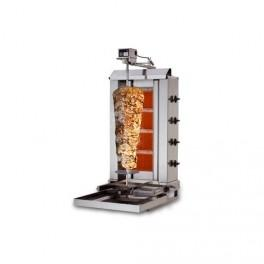 MACHINE À KEBAB GAZ 60 KG PROFESSIONNELLE - 100 % ACIER - 4 BRÛLEURS - 13W - 230V - NEUVE  - EQUIPEMENTPRO COMSCHOP