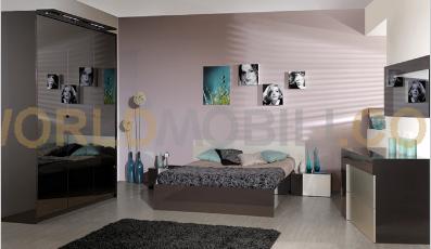 ormea grise et biege chambre a coucher complete armoire. Black Bedroom Furniture Sets. Home Design Ideas