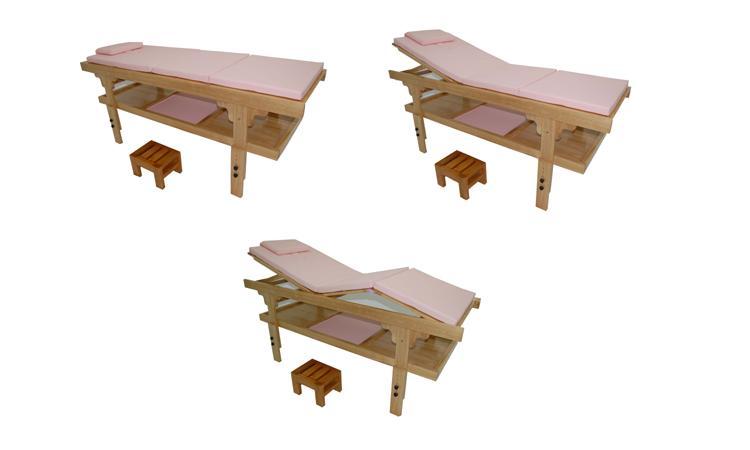 Table fixe en bois luxe moorea 3 rose