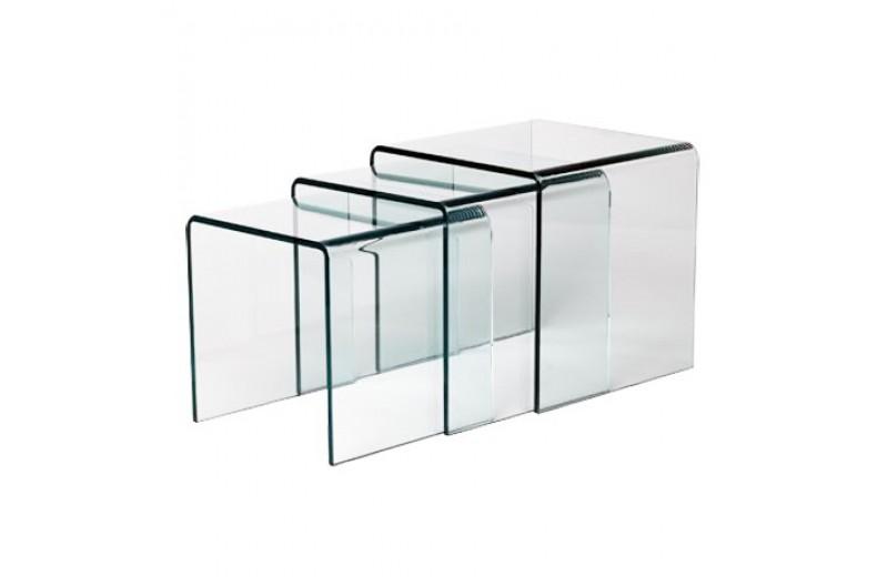 Table Basse Gigogne En Verre Trempe Design 12mm