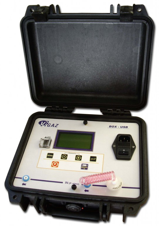ANALYSEUR O2+CO2 BOX 120-USB AVEC VALISE ROBUSTE + PORT USB