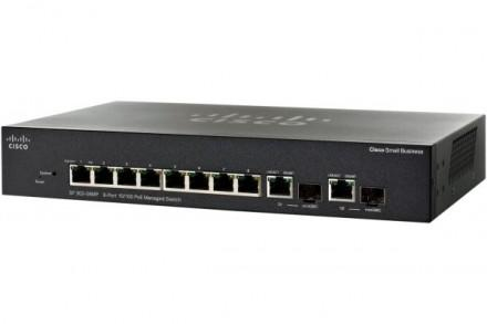 Cisco sf302-08mp switch manageable 8x10/100 + 2xsfp poe