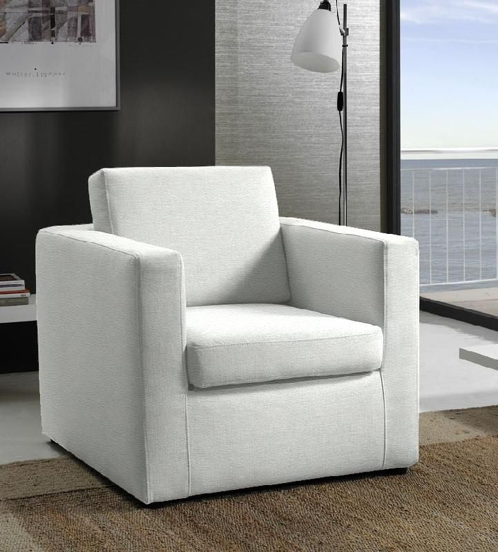 fauteuil fixe dreamer cuir vachette blanc. Black Bedroom Furniture Sets. Home Design Ideas