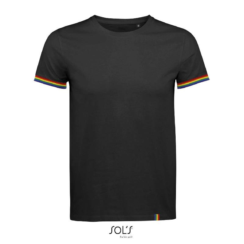 Tee-shirt homme manches courtes rainbow men - référence : ks3t3y