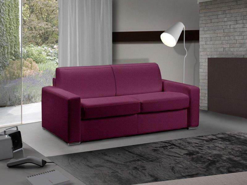 canape lit 2 3 places master convertible ouverture rapido 120 cm tweed cross fushia matelas 18. Black Bedroom Furniture Sets. Home Design Ideas