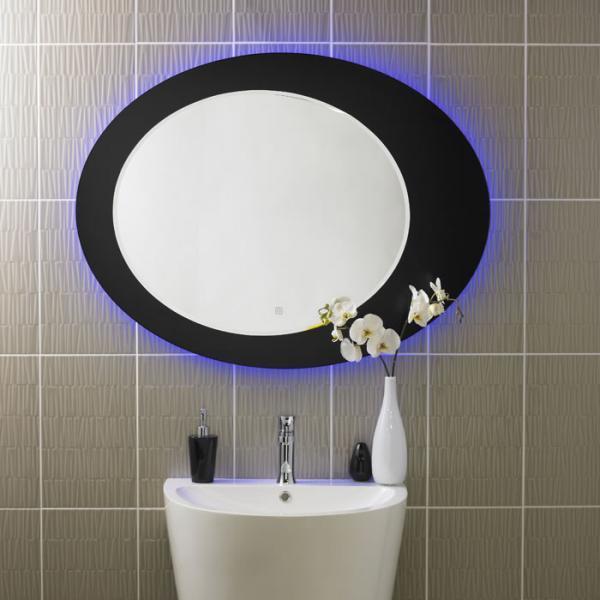 Miroir pour sanitaires hudson reed achat vente de for Miroir rond eclairant