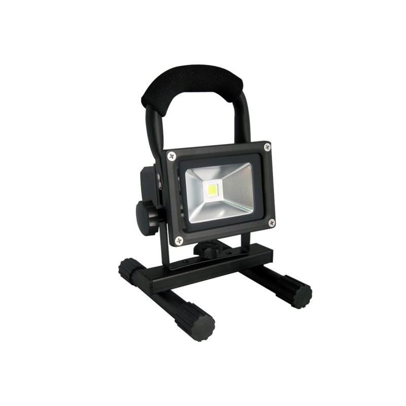eclairage de chantiers projecteur led cob 10w rechargeable. Black Bedroom Furniture Sets. Home Design Ideas