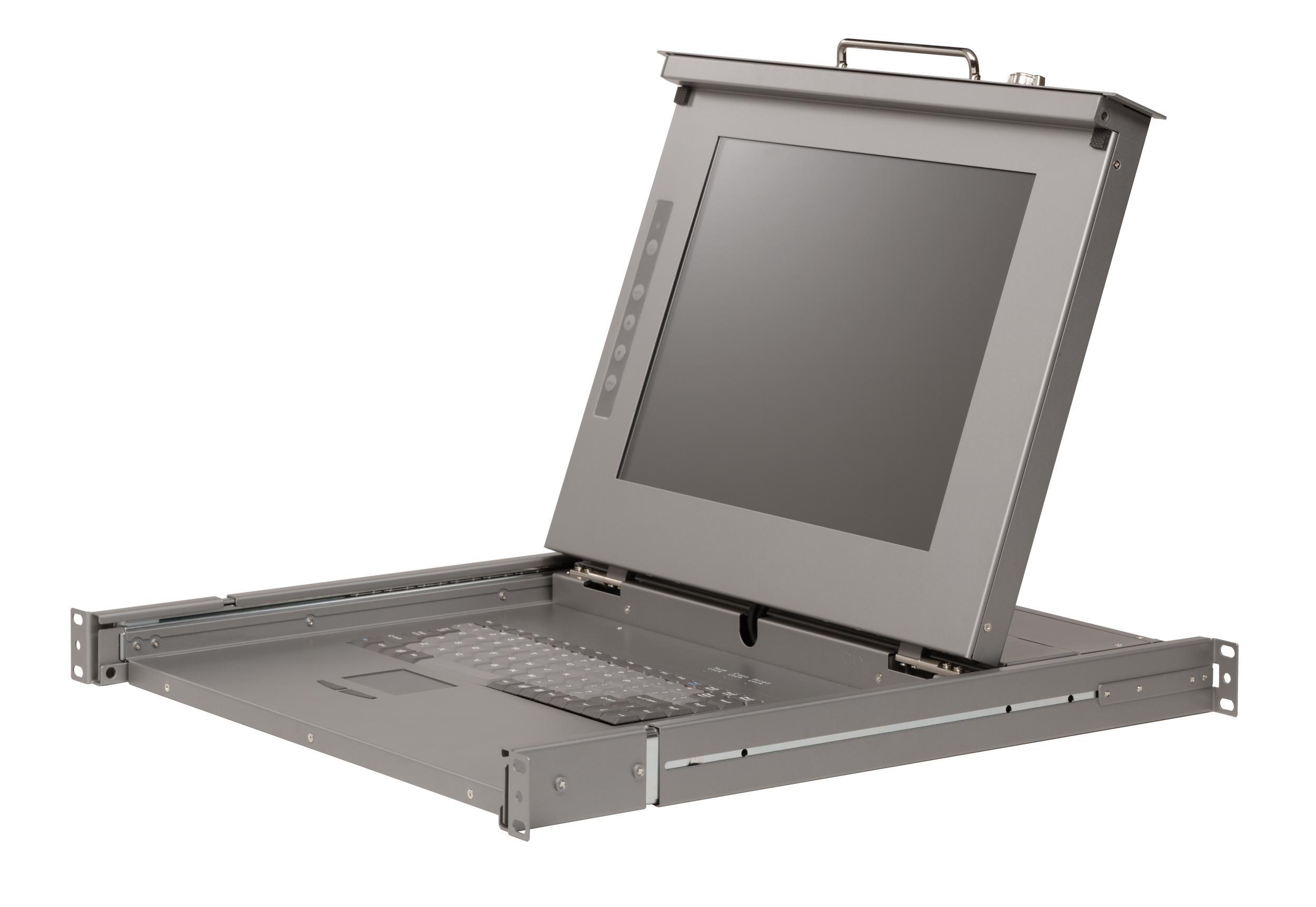 Console 1u mono rail / rack - écran lcd