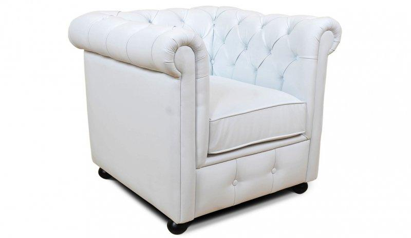 Fauteuil chesterfield royal blanc - Fauteuil chesterfield blanc ...