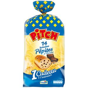 PITCH DE PASQUIER AUX BRIOCHES PÉPITES DE CHOCOLAT X 14 525 G