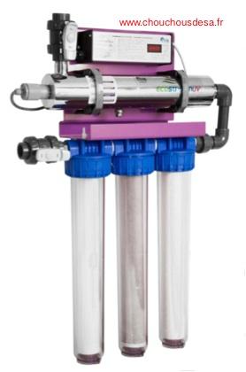 Station de potabilisation de l'eau ecostream 4 avec traitement par uvc