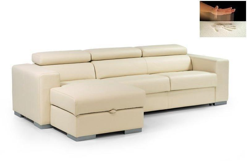 Canape dangle convertible 2 pl cuir beige gascity for - Canape convertible beige ...