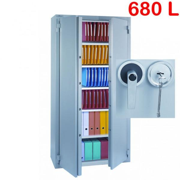 Armoire forte ignifuge 680l a cle - Armoire a cle ...