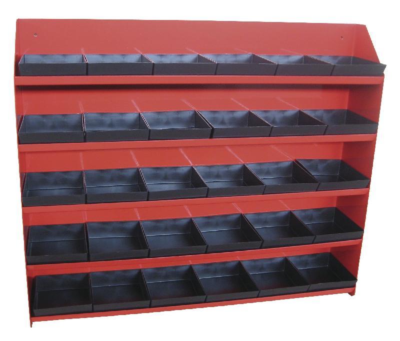 Etagère métallique avec 30 bacs mw-tools derb580