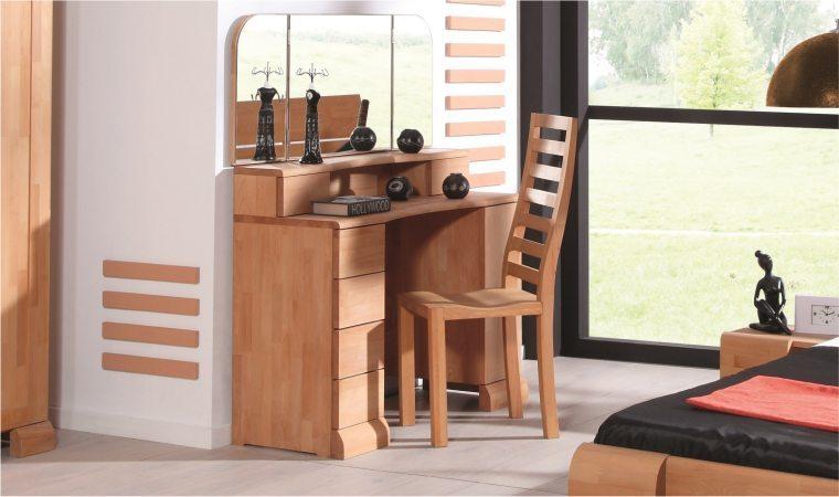 coiffeuse pour chambre a coucher en hetre massif tokyo. Black Bedroom Furniture Sets. Home Design Ideas