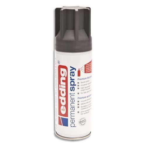 Edding spray peinture permanente 200ml anthracite, pour extérieur et intérieur