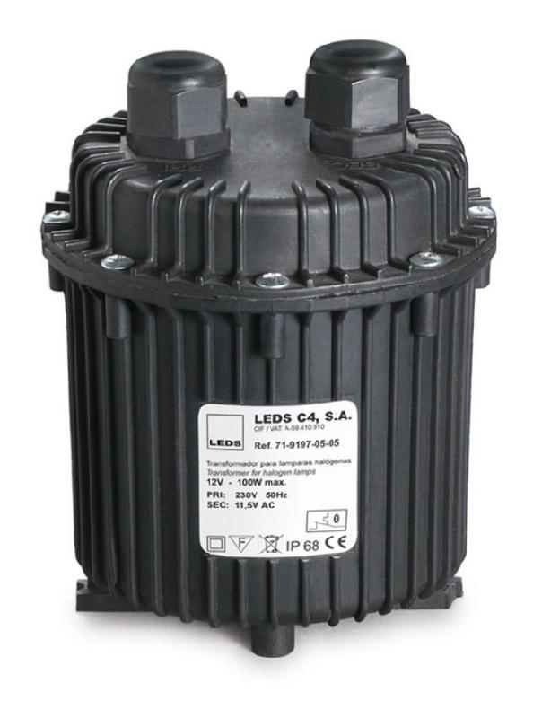 LEDS-C4 - TRANSFORMATEUR ÉTANCHE AQUA 100W - 11,5V IP68 - NOIR - NOIR