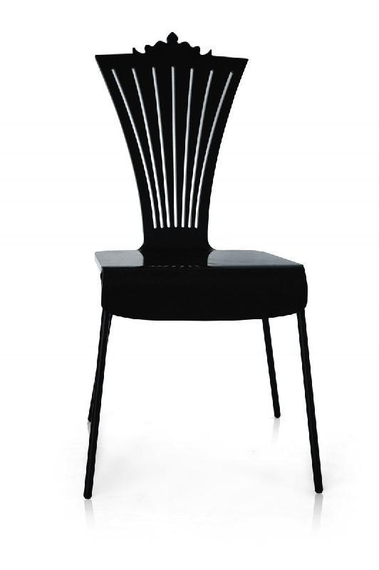 chaise de jardin en plexi noire par acrila. Black Bedroom Furniture Sets. Home Design Ideas