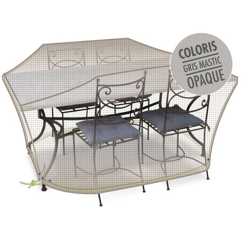 Housse de protection pour table de jardin ronde des id es int ressantes pour la for Housse table salon de jardin