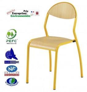 chaise 4 pieds empilable ergonomique rondo. Black Bedroom Furniture Sets. Home Design Ideas