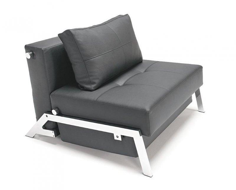 innovation living fauteuil lit design sofabed cubed tissu enduit noir convertible 200cm. Black Bedroom Furniture Sets. Home Design Ideas
