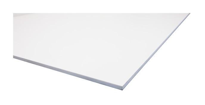 PLAQUE PVC EXPANSÉ BLANC - COLORIS - BLANC, EPAISSEUR - 3 MM, LARGEUR - 100 CM, LONGUEUR - 100 CM, SURFACE COUVERTE EN M² - 1 - MCCOVER
