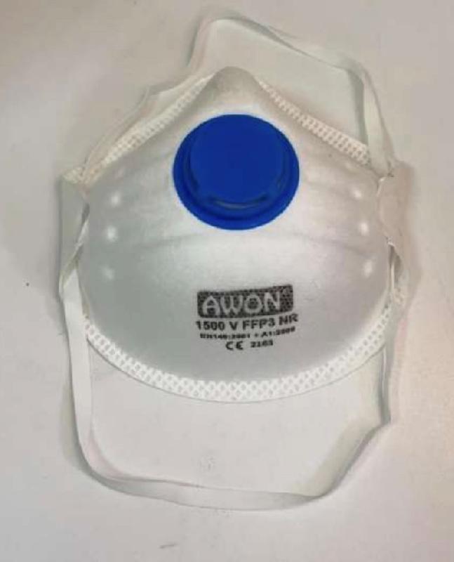 20 masques ce de protection respiratoire ffp3 + valves