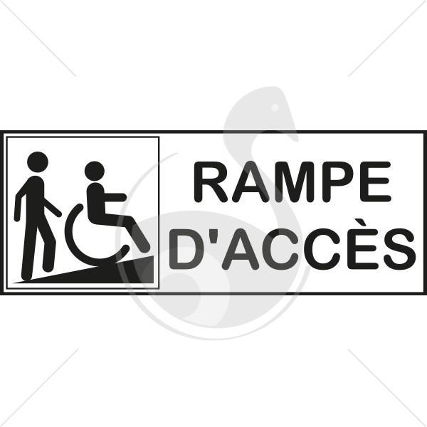 autocollant rampe d 39 acces pour handicapes. Black Bedroom Furniture Sets. Home Design Ideas