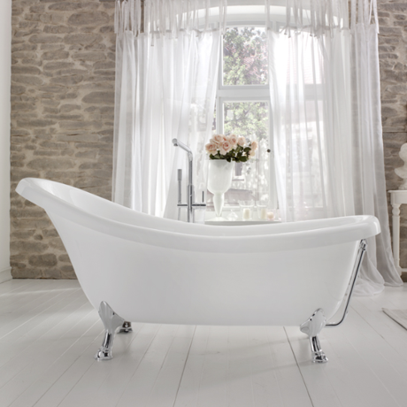 baignoire ilot sur pieds 175x80cm acrylique blanc 39 nostalgie 39 comparer les prix de baignoire. Black Bedroom Furniture Sets. Home Design Ideas