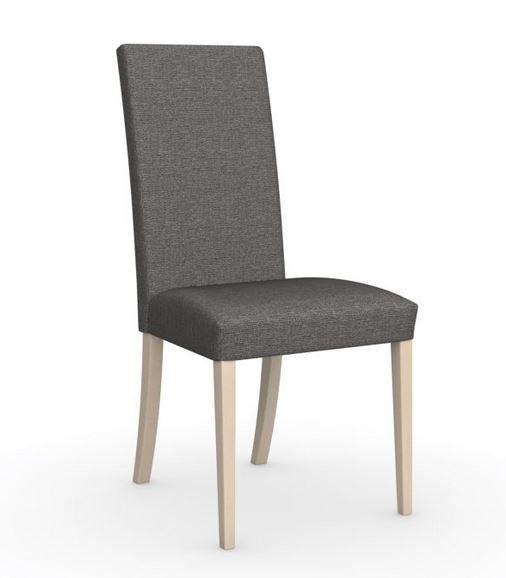 Calligaris chaise italienne latina  piétement hêtre naturel assise tissu grège