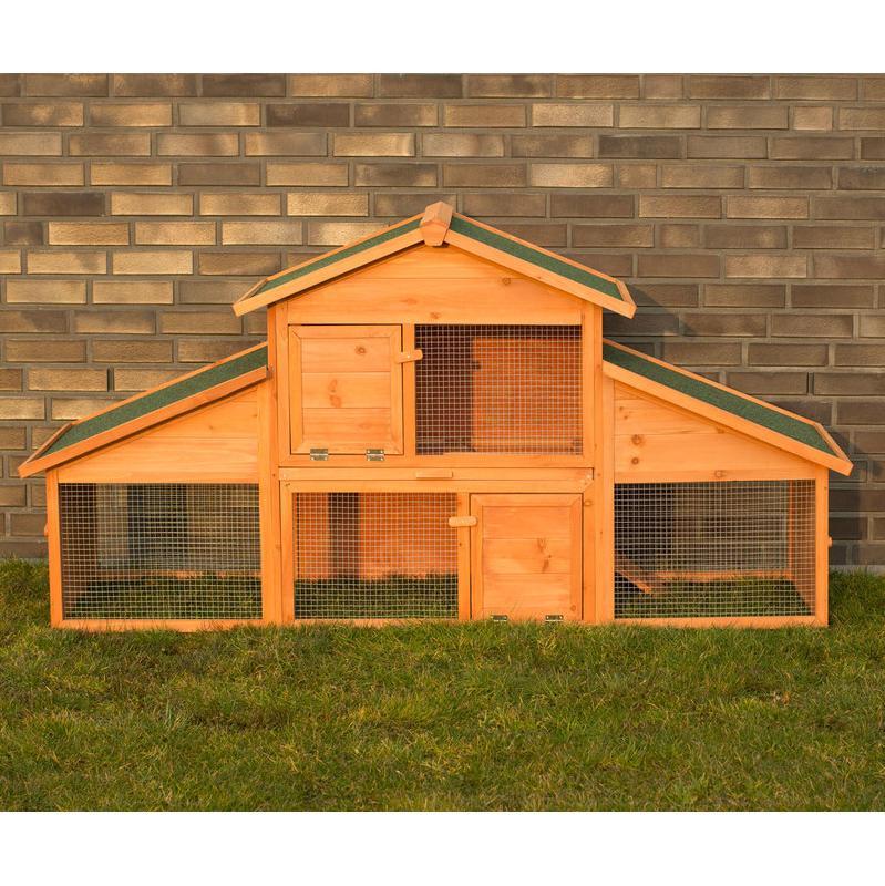 Conigliera gabbia in legno baleari zoopet comparer les for Conigliera in legno