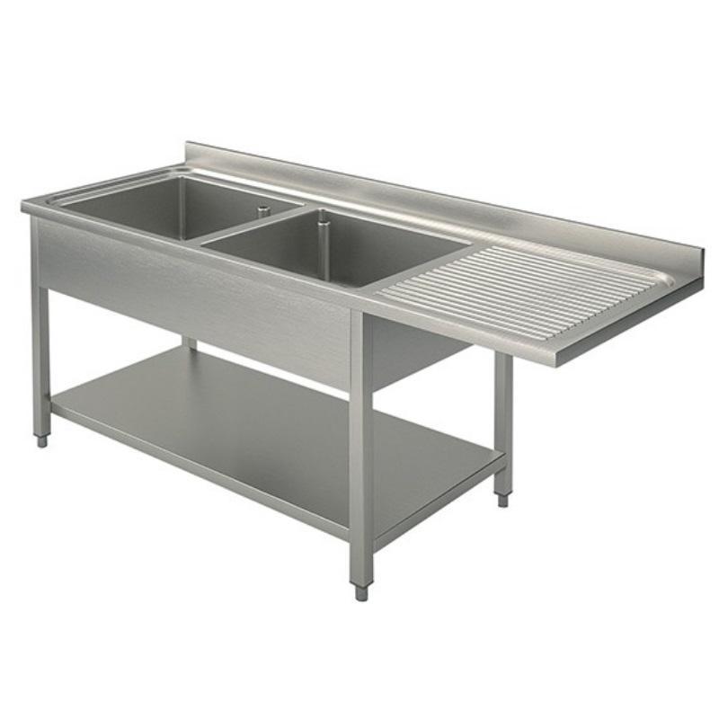 plonge passage lave vaisselle eco 15x7 avec 2 bacs gauche comparer les prix de plonge passage. Black Bedroom Furniture Sets. Home Design Ideas