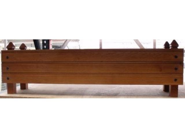 bac en chene verni rectangulaire 1mx24x25 cm jacquenet malin 2061u. Black Bedroom Furniture Sets. Home Design Ideas