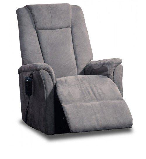 celeste fauteuil relax et releveur electrique microfibre gris. Black Bedroom Furniture Sets. Home Design Ideas