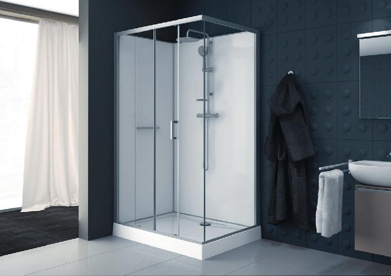 Cabine De Douche Kara Rectangle 120x90 Porte Coulissante 2